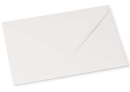 White recycled envelops