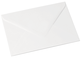 White laid - Our White Laid envelopes give the same simplicity as the standard white but with a subtle texture for a hint of luxury. Also weighing 100gsm