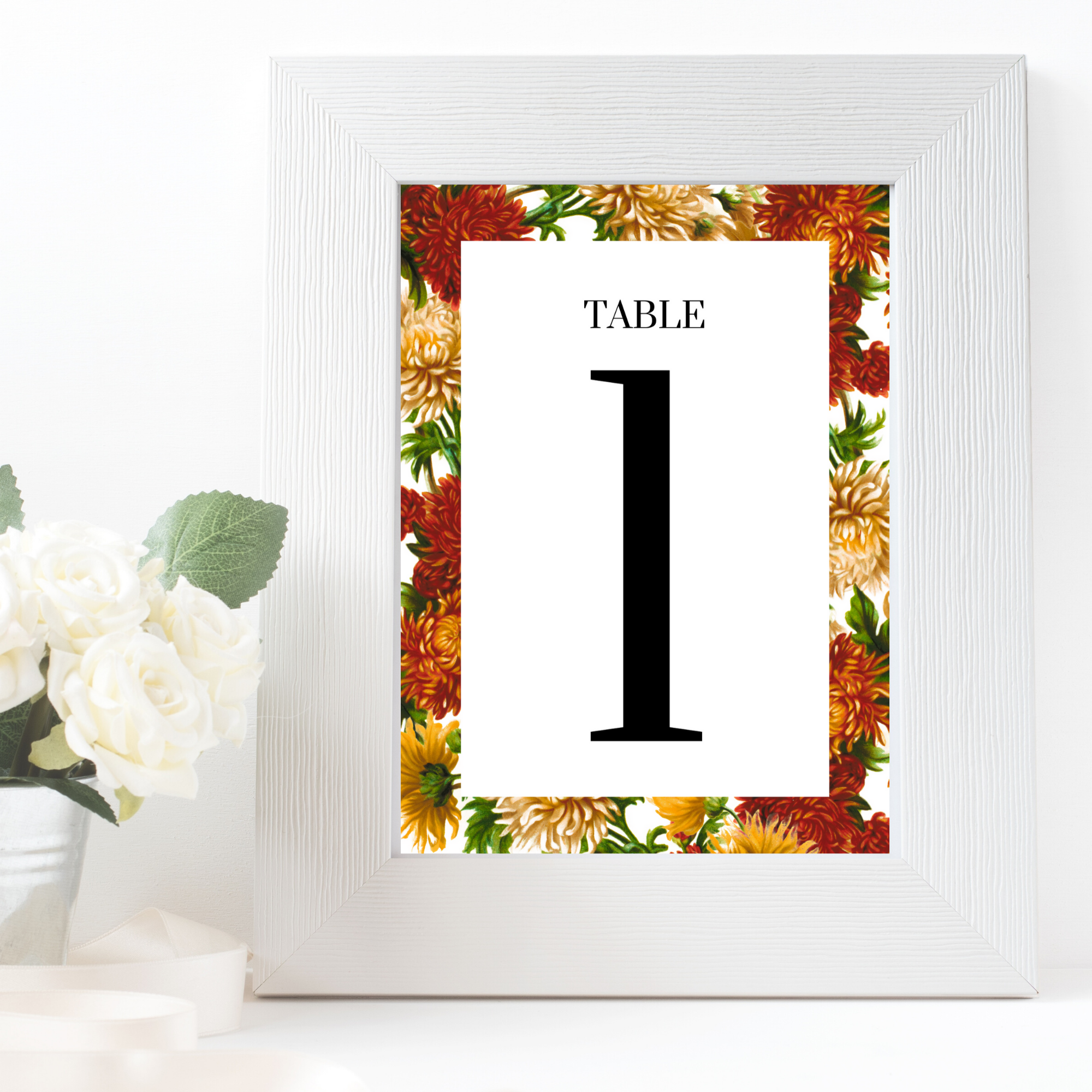 Etsy mock up white frame