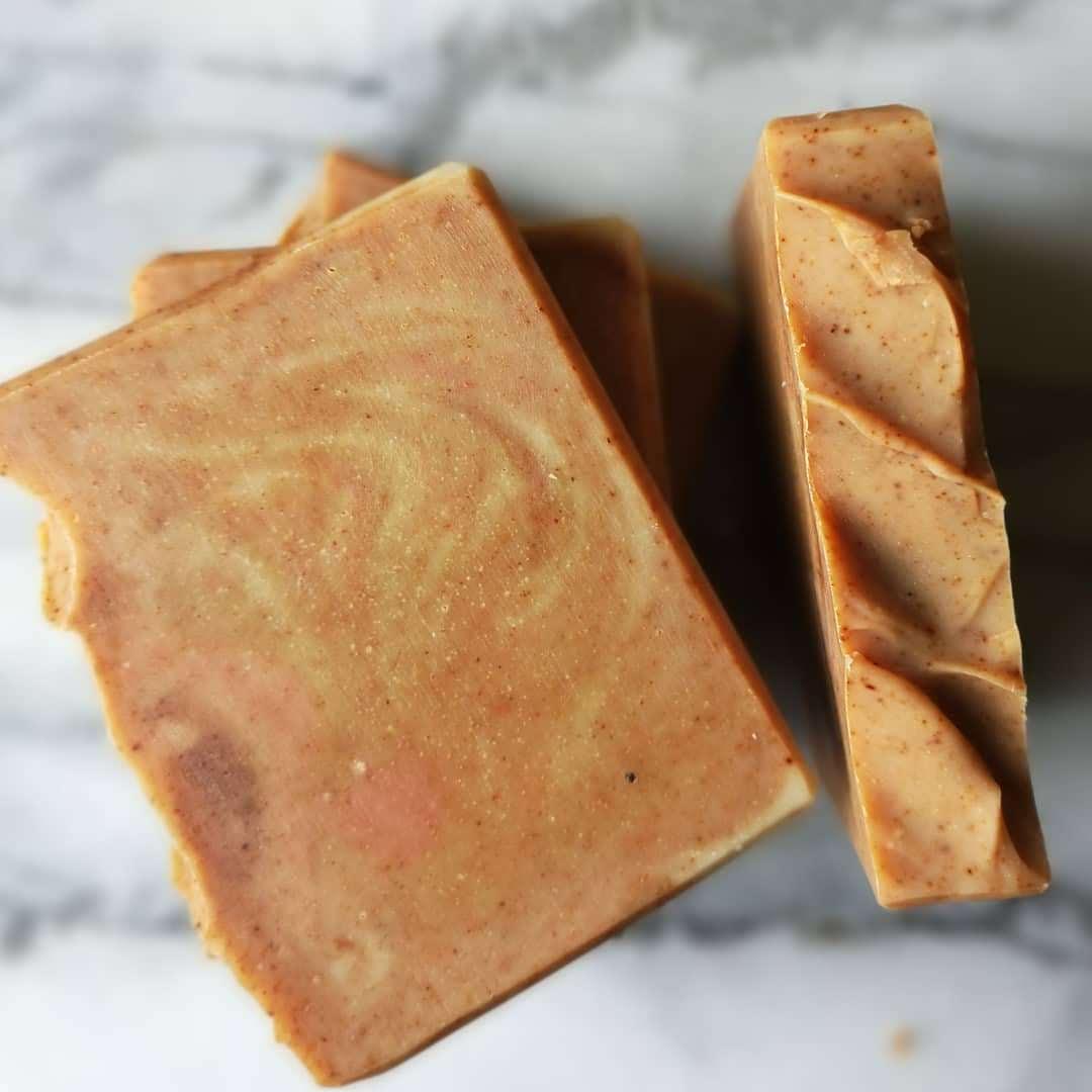 Turmeric and paprika handmade soap