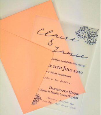 vellum invitation